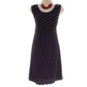 Size Large BLACK & WHITE ASYMMETRICAL RUFFLE DRESS